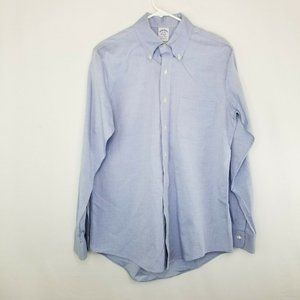 Brooks Brothers 16 34 Extra Slim Fit Blue Shirt